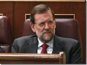 Mariano Rajoy en su escaño