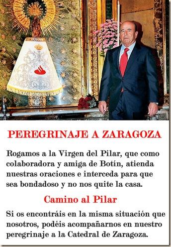 Peregrinaje a Zaragoza - Pancarta