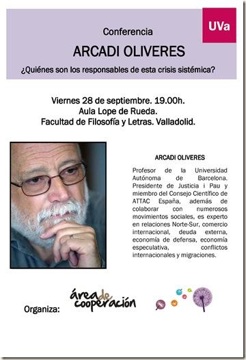 cartel ARCADI OLIVERES